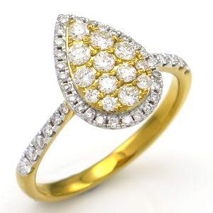 תכשיטי בר דור - טבעת טיפה זהב צהוב