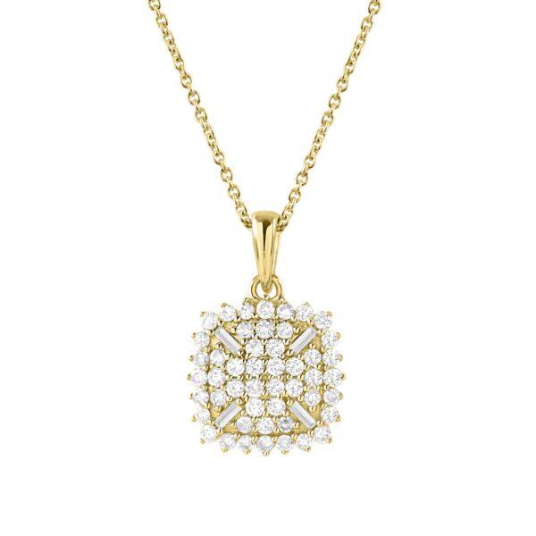 שרשרת יהלומים זהב צהוב 14 קראט