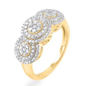 תכשיטי בר דור הרצליה טבעת זהב יהלומים