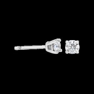 עגילי יהלומים 0.20 קראט