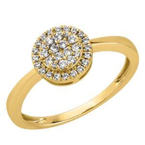 טבעת יהלומים משולשים