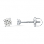 תכשיטי בר דור - עגילי יהלומים שיבוץ שיניים עם הברגה
