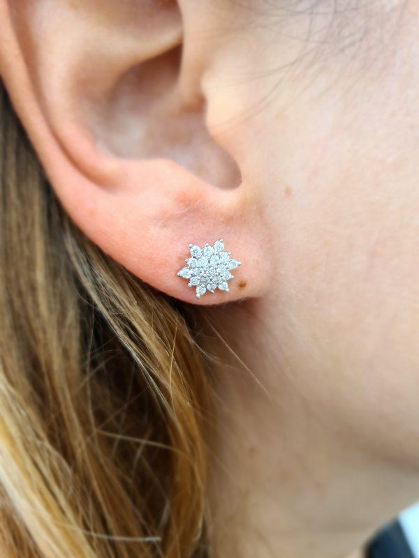 תכשיטי בר דור - עגילי יהלומים