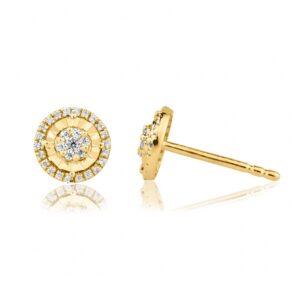 תכשיטי בר דור עגילי יהלומים צמודים לאוזן