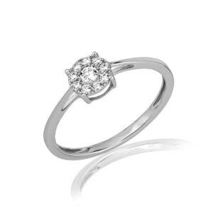 תכשיטי בר דור - טבעת יהלומים קלאסית