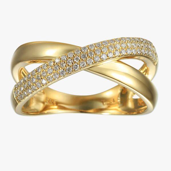 טבעת יהלומים זהב 14 קראט