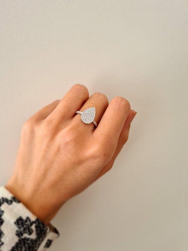 טבעת טיפה יהלומים