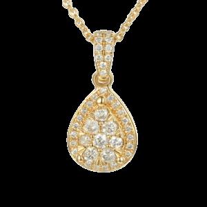 תליון יהלומים בצורת טיפה