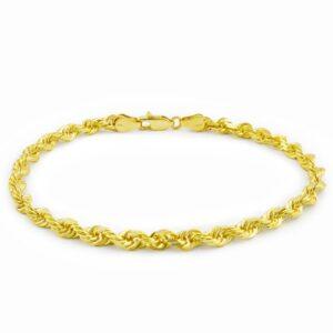 צמיד חבל זהב צהוב 14 קראט