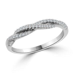 טבעת יהלומים מסולסלת