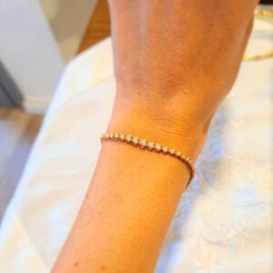 צמיד טניס יהלומים 18 קראט