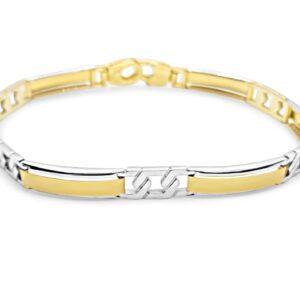 צמיד-לגבר-משולב-זהב-צהוב-וזהב-לבן-14-קראט-1