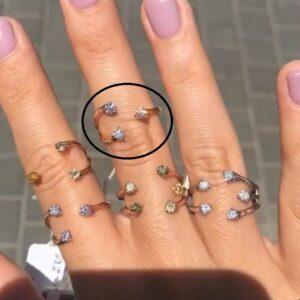 טבעת זהב אדום 18 קראט