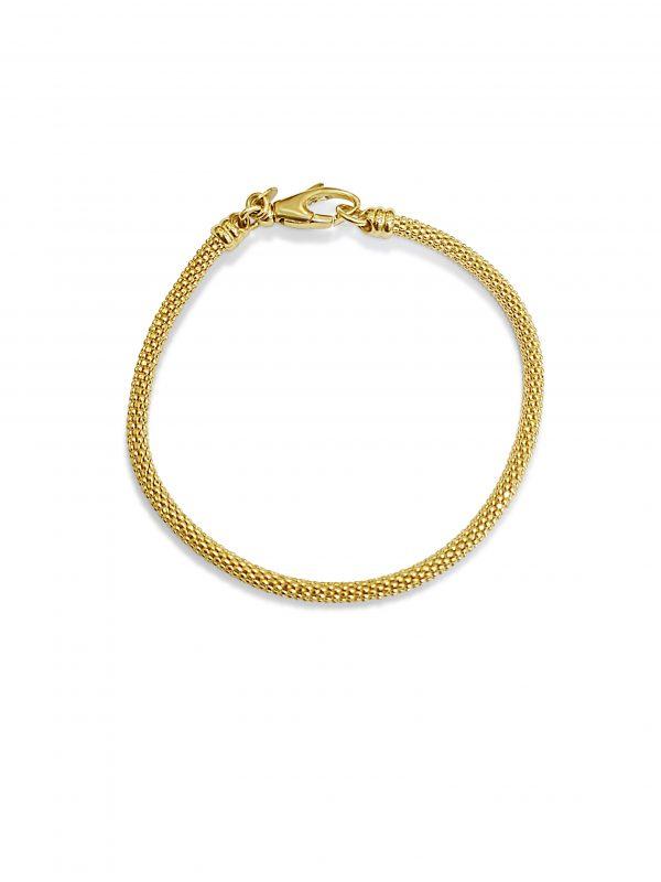 צמיד זהב 14 קראט דגם אליס