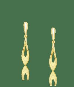 עגילים תלויים זהב 14 קראט