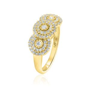 טבעת יהלומים במבצע תכשיטי בר דור
