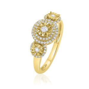 טבעת יהלומים תכשיטי בר דור