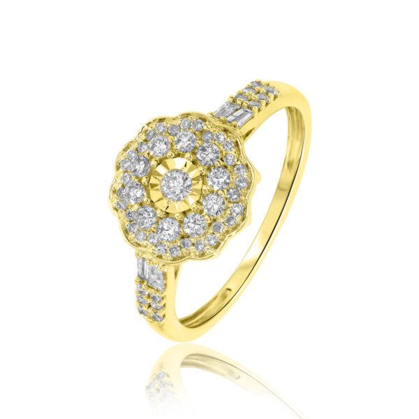 טבעת יהלומים הפרח שבגן