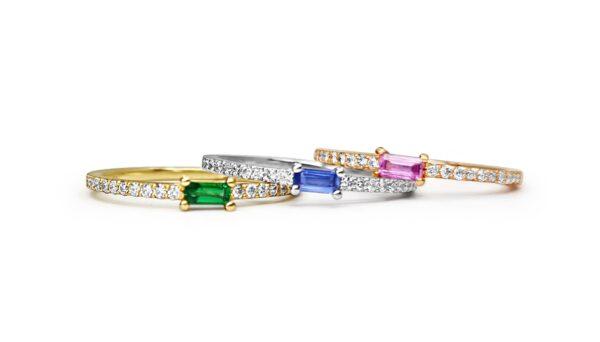 טבעות יהלומים צבעוניות תכשיטי בר דור