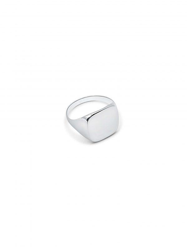 טבעת זהב לבן לגבר