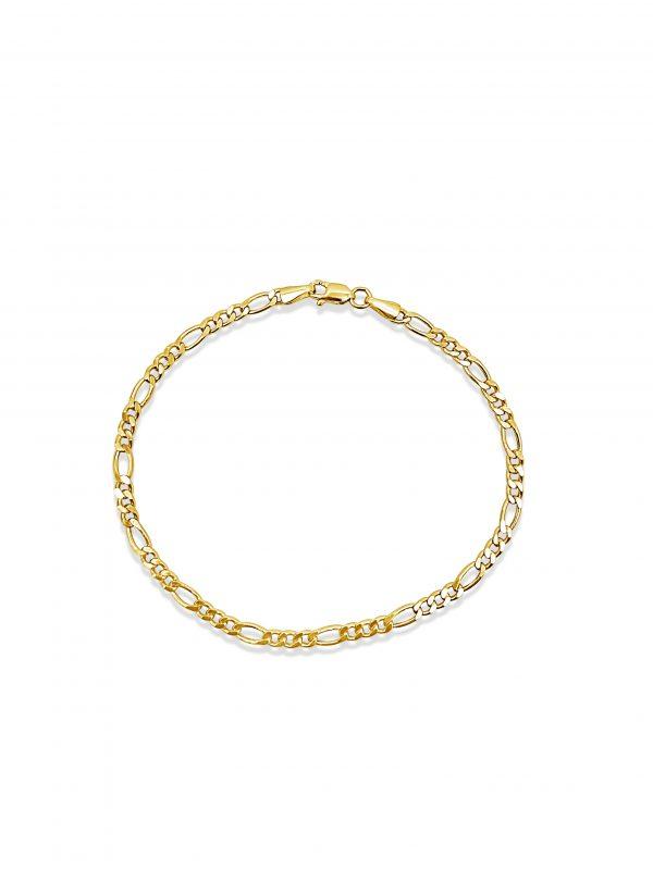 צמיד פיגארו זהב צהוב 14 קראט