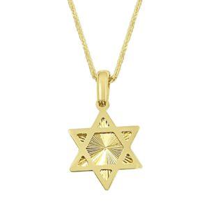 שרשרת זהב מגן דוד לגבר