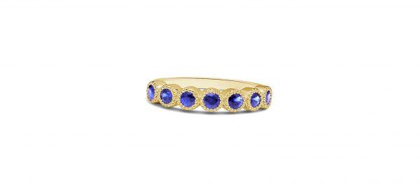 טבעת זהב וספירים אבני ספיר
