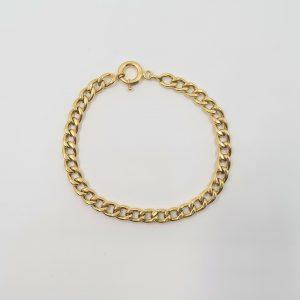 צמיד זהב 14 קראט חוליות שטוחות