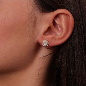 עגילי יהלומים טבעיים