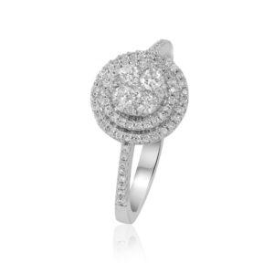 טבעת יהלומים קלאסית מושלמת להצעות נישואין
