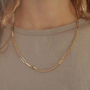 שרשרת חוליות זהב 14 קראט
