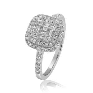 טבעת יהלומים תכשיטי בר-דור