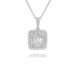 שרשרת יהלומים זהב לבן תכשיטי בר-דור
