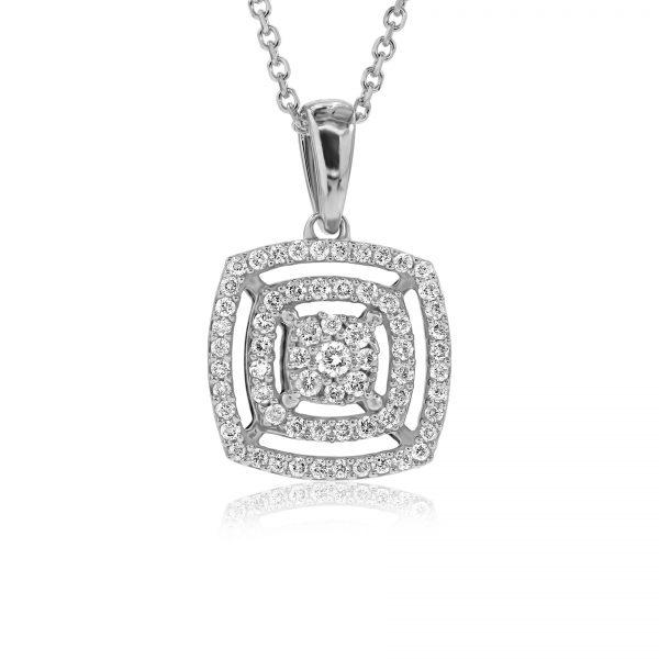 שרשרת יהלומים במבצע זהב לבן 14 קראט