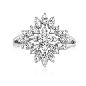 טבעת יהלומים אלין תכשיטי בר-דור