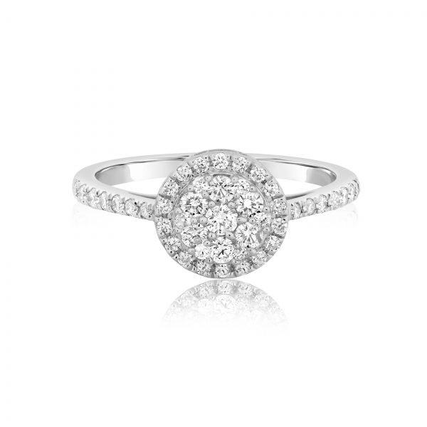 טבעת יהלומים קלאסית תכשיטי בר-דור