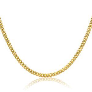 שרשרת גורמט חוליות שטוחות זהב 14 קראט