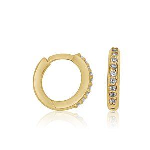 עגיל ג'יפסי יהלומים זהב צהוב