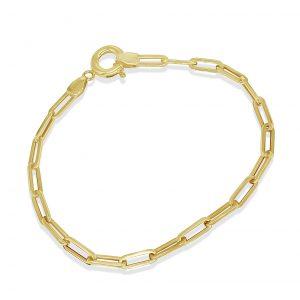 צמיד חוליות זהב סטפאני