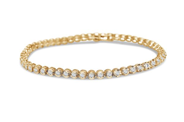 צמיד טניס יהלומים זהב צהוב