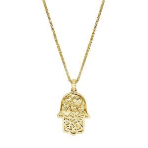 שרשרת חמסה זהב צהוב 14 קראט