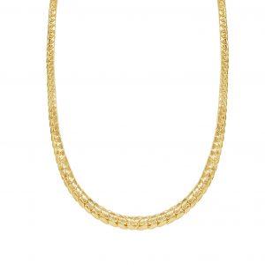 שרשרת עור הנחש זהב צהוב 14 קראט