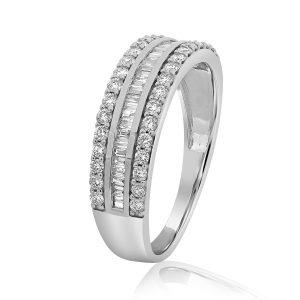 טבעת יהלומים אדריאנה זהב לבן