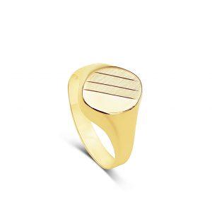 טבעת חותם לגבר זהב צהוב 14 קראט