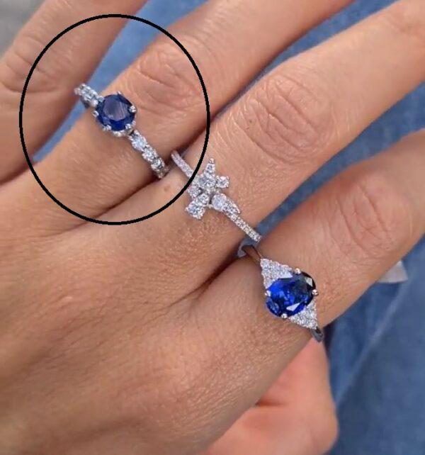 טבעת ספיר כחולה