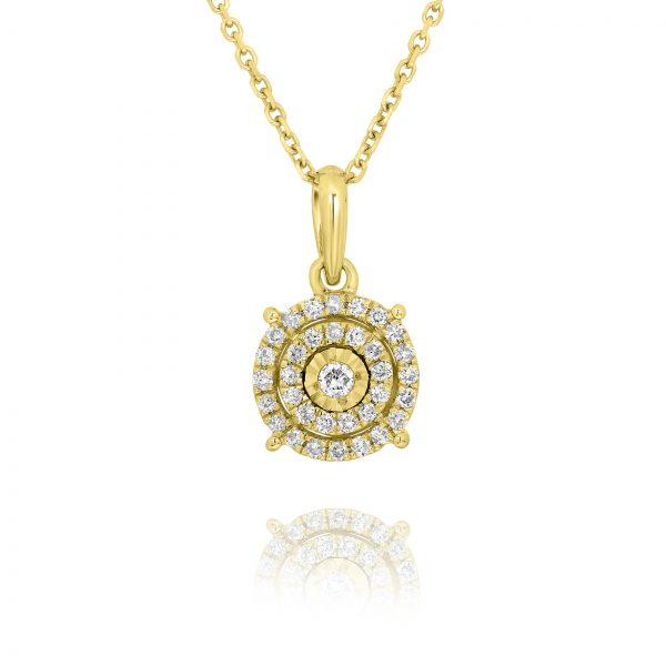 שרשרת יהלומים במבצע זהב צהוב