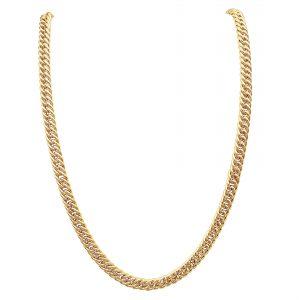שרשרת צמה זהב צהוב 14 קראט